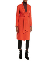 Double cashmere wrap coat medium 4353768