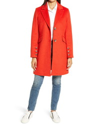 Sam Edelman Notched Collar Wool Blend Coat