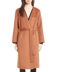Reversible wool cashmere belted coat medium 5396286