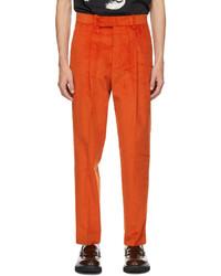 Paul Smith Orange Corduroy Trousers