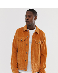 ASOS DESIGN Tall Cord Western Jacket In Mustard