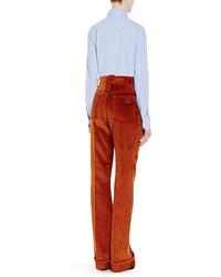 Prada Cotton Corduroy Wide Leg Trousers