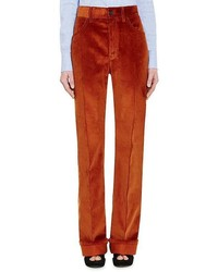 Prada Cotton Corduroy Wide Leg Trousers