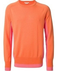Orange Crew-neck Sweater