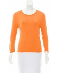 Oscar de la Renta Cashmere Scoop Neck Sweater