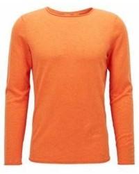 Hugo Boss Cotton Sweater Slim Fit Kamiro S Orange