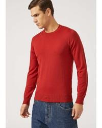 Emporio Armani Crew Neck Sweater In Virgin Wool