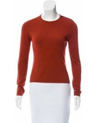 Hermes Herms Crew Neck Zip Up Sweater