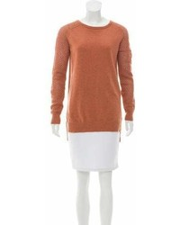 Theory Open Knit Wool Sweater