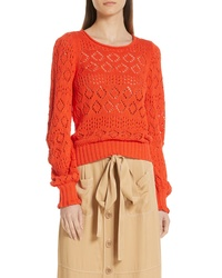 See by Chloe Pointelle Sweater