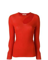 Drome Ribbed Asymmetric Cutout Sweater