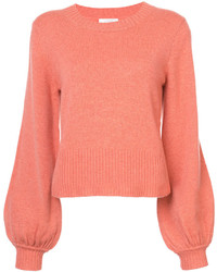 Ribbed bell sleeve sweater medium 5396300