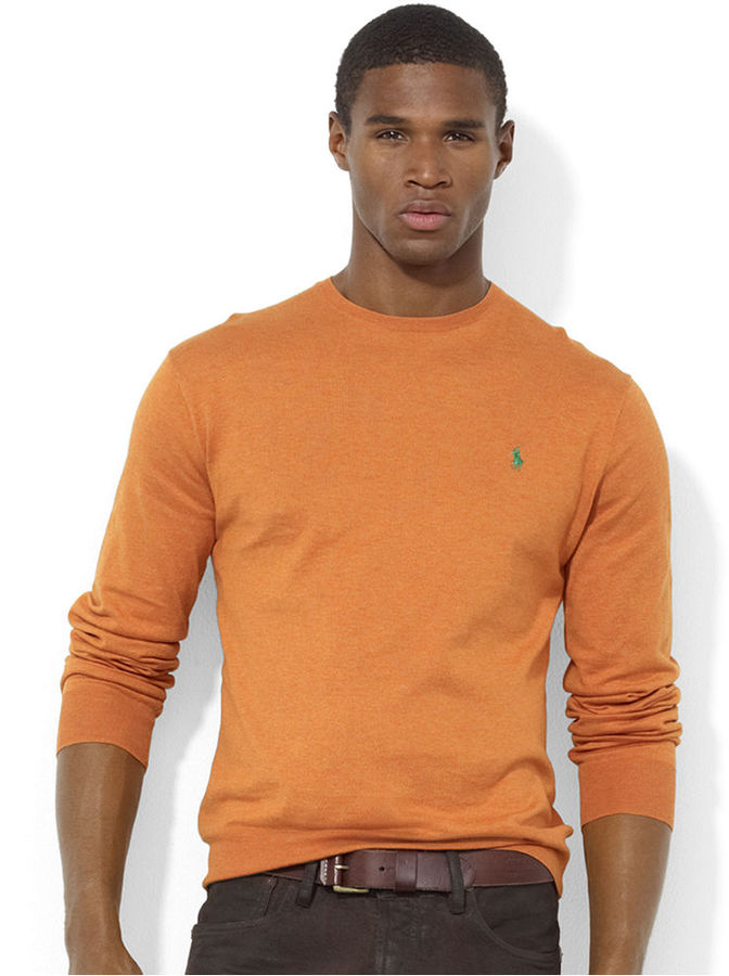 Polo Ralph Lauren Sweater Crew Neck Pima Cotton Sweater | Where to ...