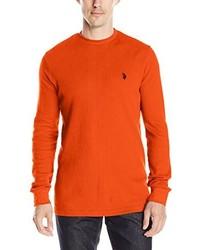 Orange Crew-neck Sweater