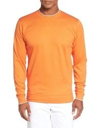 Walker tipped pima cotton long sleeve t shirt medium 792356