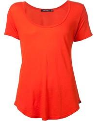 Orange Crew-neck T-shirt