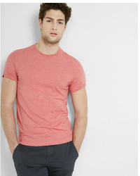 Express Heathered Flex Stretch Cotton Crew Neck Tee