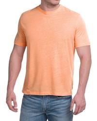 Natural Blue Linen Blend T Shirt Short Sleeve