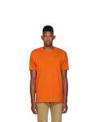 Off-White Orange And Black Logo T Shirt
