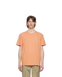 Noah NYC Orange Logo Pocket T Shirt