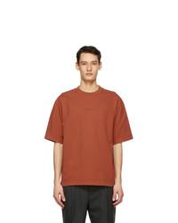 Acne Studios Orange Printed T Shirt