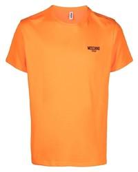 Moschino Swim Logo Print Short Sleeve T Shirt