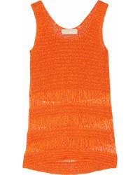 Michl michl kors crochet knit cotton blend tank medium 119466
