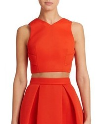 Nicholas Mesh Open Back Cropped Top
