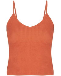 Topshop Tall Ribbed Cropped Cami