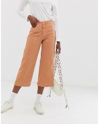 Weekday Denim Wide Leg Jeans In Tangerine Co Ord