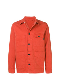 Orange Denim Shirt Jacket