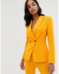 ASOS DESIGN Orange Pop Suit Blazer