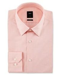 BOSS Tailored Slim Fit Dress Shirt Light Orange