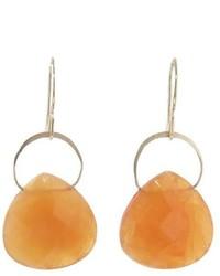 Melissa Joy Manning Botswana Agate Single Drop Earrings