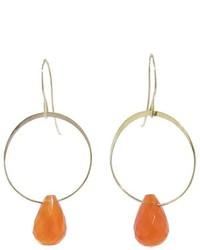 Melissa Joy Manning Carnelian Single Drop Earrings