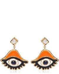 Dsquared2 swarvoski eye charm earrings medium 1127005