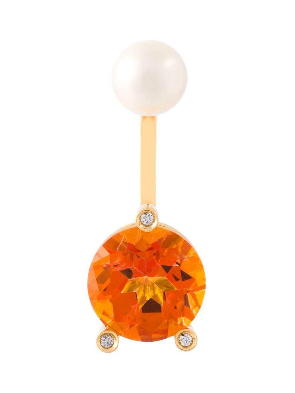 Magic Triangle Piercing Diamond Earring