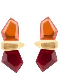 Monies Stacked Facet Clip On Earrings