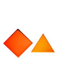 Missoni Orange Mismatched Clip On Earrings