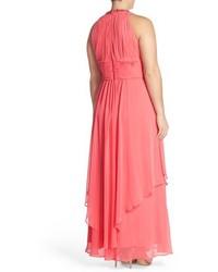 0a3637f877afd Eliza J Plus Size Embellished Keyhole Neck Chiffon Gown, $248 ...