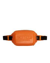 Burberry Orange Nylon Panel Bum Bag