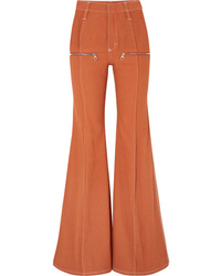 Chloé Zip Embellished High Rise Flared Jeans