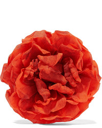 Floral silk brooch bright orange medium 673248