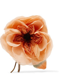 Gucci Floral Silk Brooch Orange