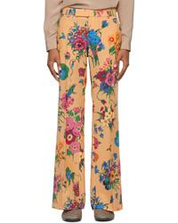 Gucci Orange Ken Scott Edition Wool Flare Trousers