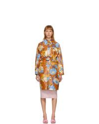 Fendi Multicolor Cotton Daisy Garden Coat