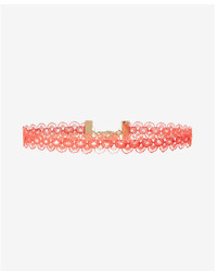Express Floral Lace Choker Necklace
