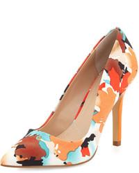 Sweetness floral pointed toe pump orange medium 447749