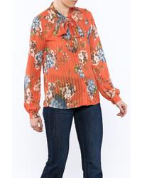 Orange floral blouse medium 5219272