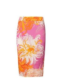 Anna s dress affair pencil skirt orange medium 825577